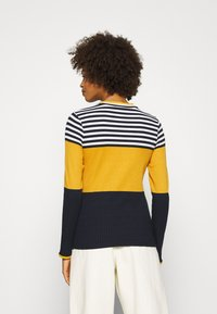 edc by Esprit - COLORBLOCK  - Jersey de punto - brass yellow