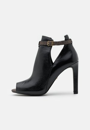 LAWSON OPEN TOE - High heeled ankle boots - black/brown