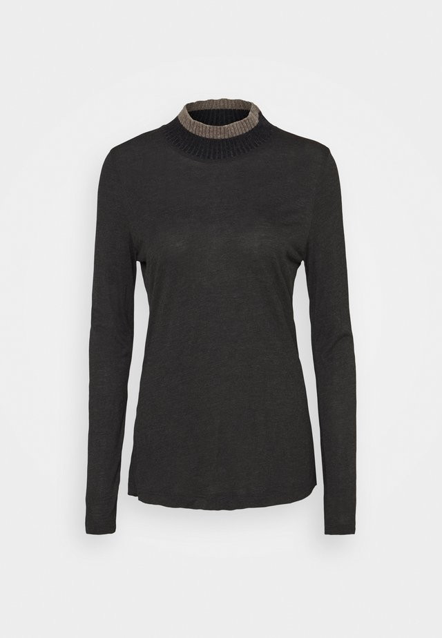 HIGHNECK - Topper langermet - dark grey melange