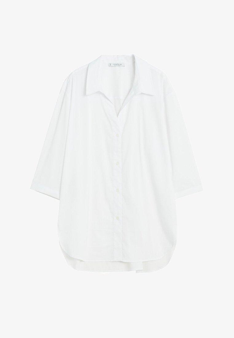 Violeta by Mango - HEMD AUS BAUMWOLL-MIX - Button-down blouse - weiß