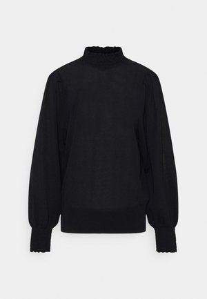 VAL PLEAT - Jumper - black