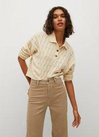 Mango - Trousers - open beige - 4