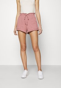 Abercrombie & Fitch - PAPERBAG SUM LEOPARD  - Shorts - rose - 0