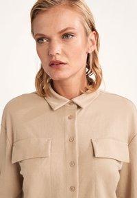 comma casual identity - Button-down blouse - dark beige - 2