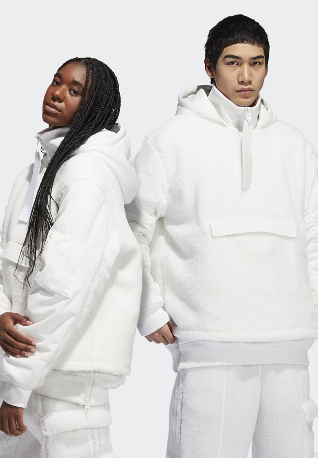 IVY PARK 1/2 ZIP SHERPA LAYERED JACKET (ALL GENDER) - Bomber Jacket - core white