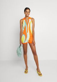 Jaded London - SLEEVELESS INTARSIA ROMPER ABSTRACT ART - Jumpsuit - orange/white/yellow/green - 1