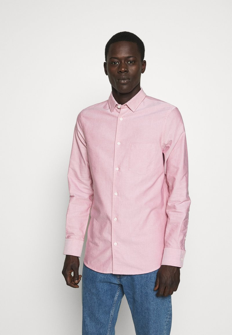 Filippa K - TIM OXFORD SHIRT - Shirt - pink cedar white mix