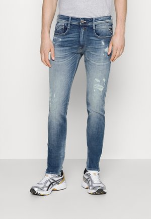 ANBASS AGED  - Straight leg -farkut - medium blue