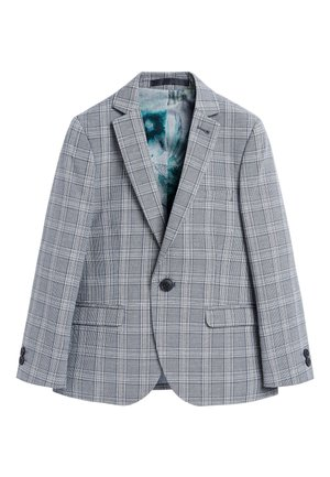 GREY/BLUE CHECK SUIT JACKET (12MTHS-16YRS) - Suit jacket - grey