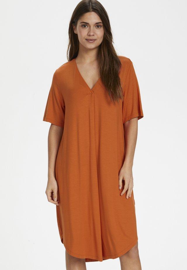 DINNIEPW DR - Jersey dress - orange sunset