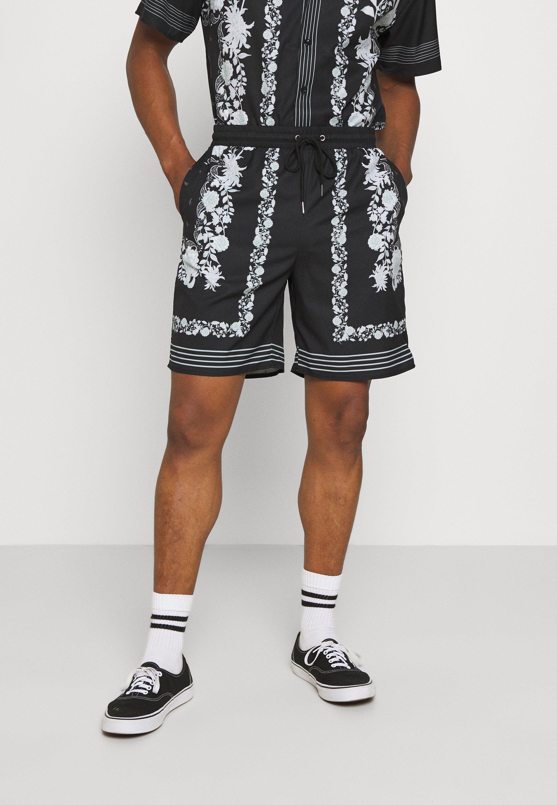 Men BORDER PRINT REVERE - Shorts