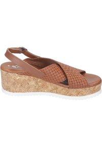 Piazza - Wedge sandals - cognac - 5