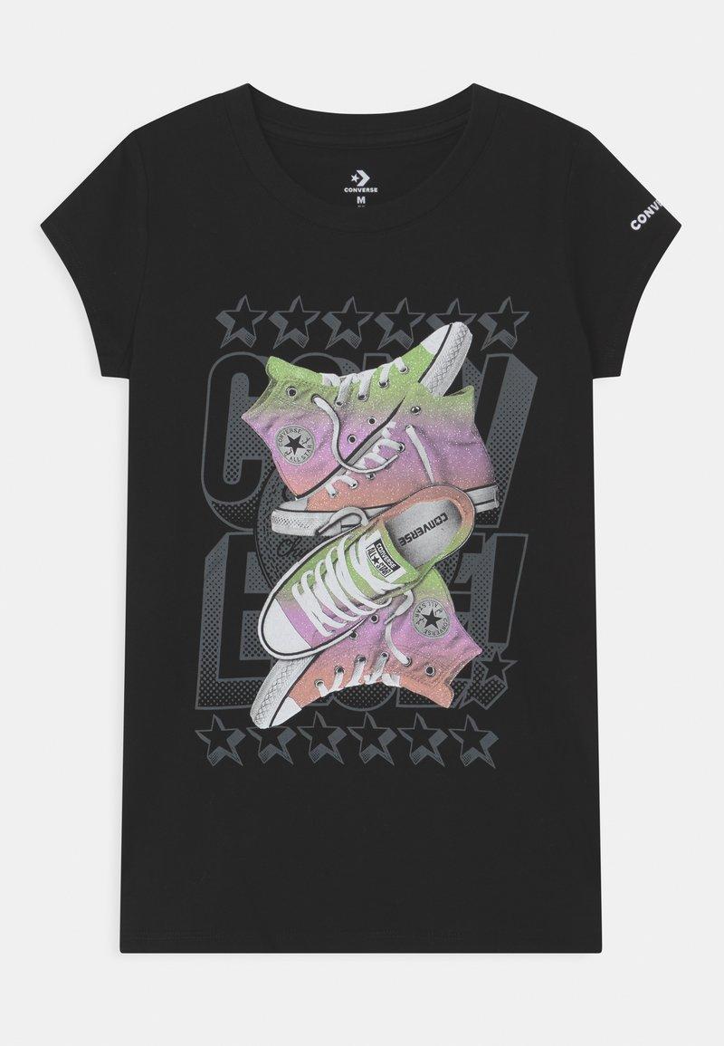 Converse - GLOSSY GIRL STACK - Camiseta estampada - black