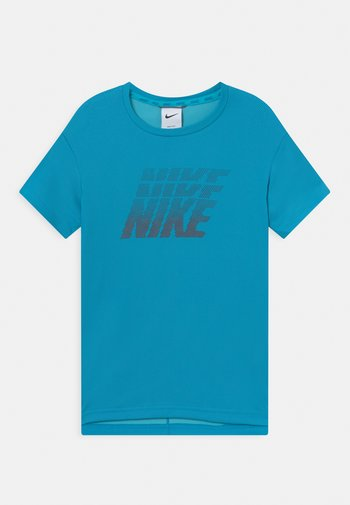 BREATHE - Print T-shirt - imperial blue/chlorine blue/brown basalt