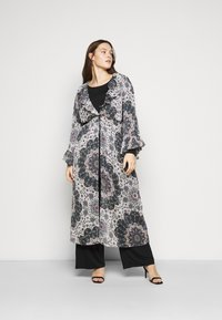 Simply Be - RUFFLE FRONT KIMONO - Day dress - multi-coloured - 1