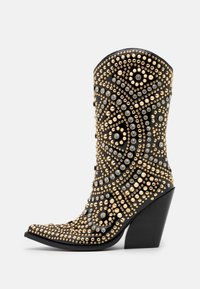 Jeffrey Campbell - STUDLEY - High heeled ankle boots - black/gold - 1