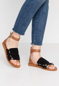 Felmini - CAROLINA  - T-bar sandals - black - 0