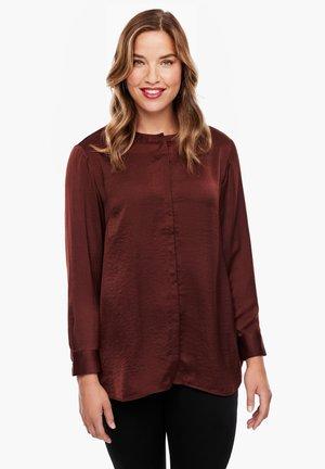 Button-down blouse - brown
