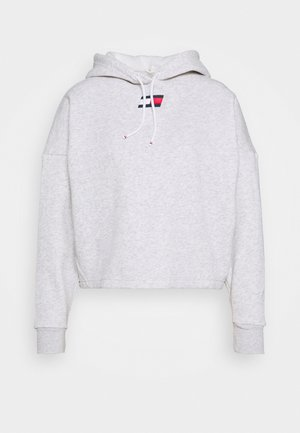 CROPPED HOODY FLAG LOGO - Hoodie - ice heather