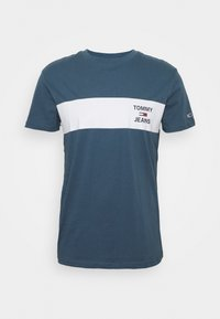 Tommy Jeans - CHEST STRIPE LOGO - T-shirt z nadrukiem - audacious blue - 0