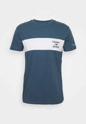 CHEST STRIPE LOGO - T-shirt z nadrukiem - audacious blue