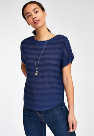 STRIPE - Print T-shirt - blue