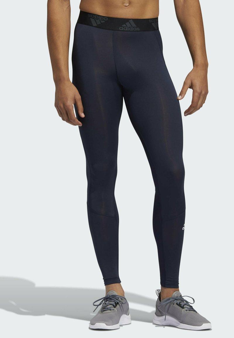 adidas Performance - TECHFIT LONG TIGHTS - Leggings - blue