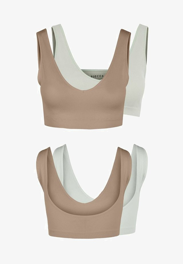 2 PACK  - Bustier - warm taupe
