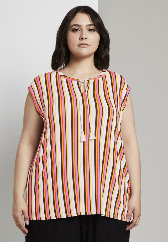 Camiseta estampada - mutlicolor stripe