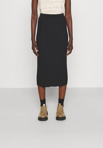 RARO - Plisovaná sukně - black