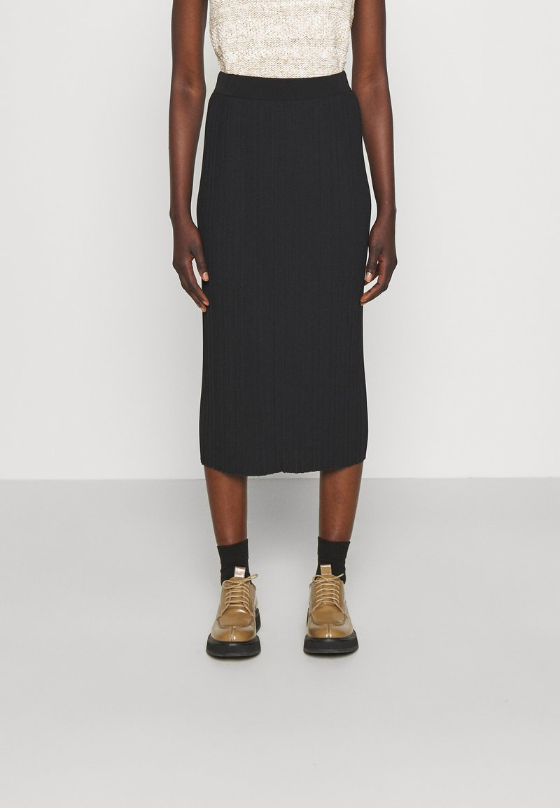 Max Mara Leisure - RARO - Plisovaná sukně - black