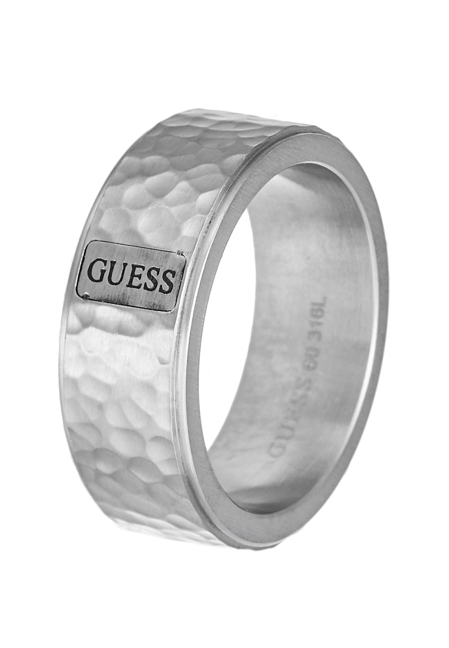 Guess HERO HAMMERED BAND - Ring - silver-coloured/sølv bdBkypLnvVcjebh