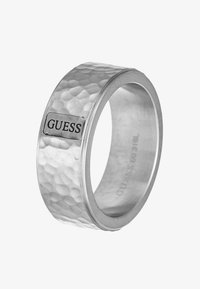 Guess - HERO HAMMERED BAND - Ring - silver-coloured - 3
