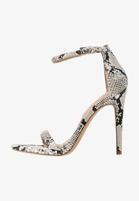CARAA - High heeled sandals - light silver