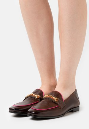 SCARLETT 45 - Slip-ons - mid brown/fluo fuxia/gold/brown/orange