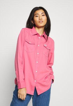 BOYFRIEND WESTERN - Button-down blouse - bubblegum pink