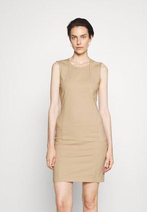 DRESS - Sukienka etui - triking beige