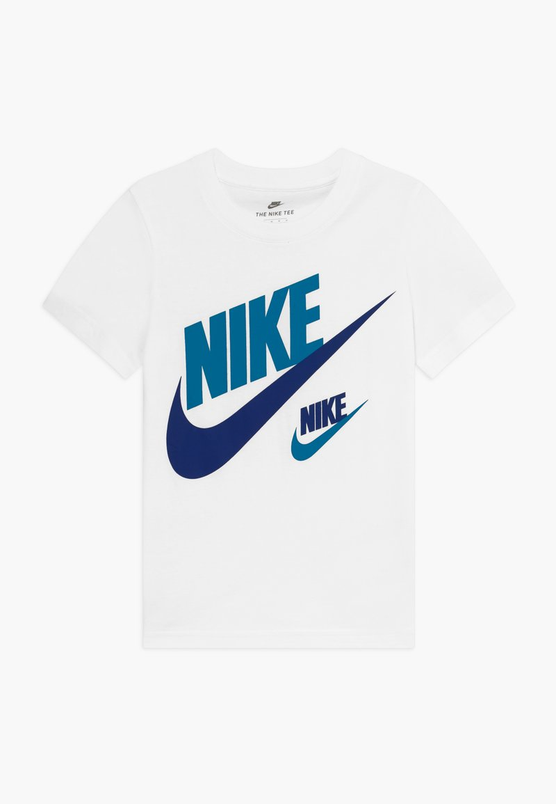Nike Sportswear - DOUBLE FUTURA TEE - T-shirt z nadrukiem - white