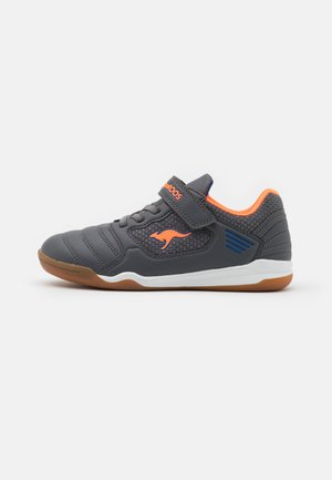 MIYARD - Trainers - steel grey/neon orange