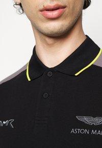 Hackett Aston Martin Racing - BLOCK PANEL - Polo - black/grey - 4