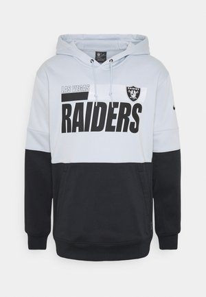 NFL OAKLAND RAIDERS TEAM NAME LOCKUP THERMA HOODIE - Equipación de clubes - field silver/black