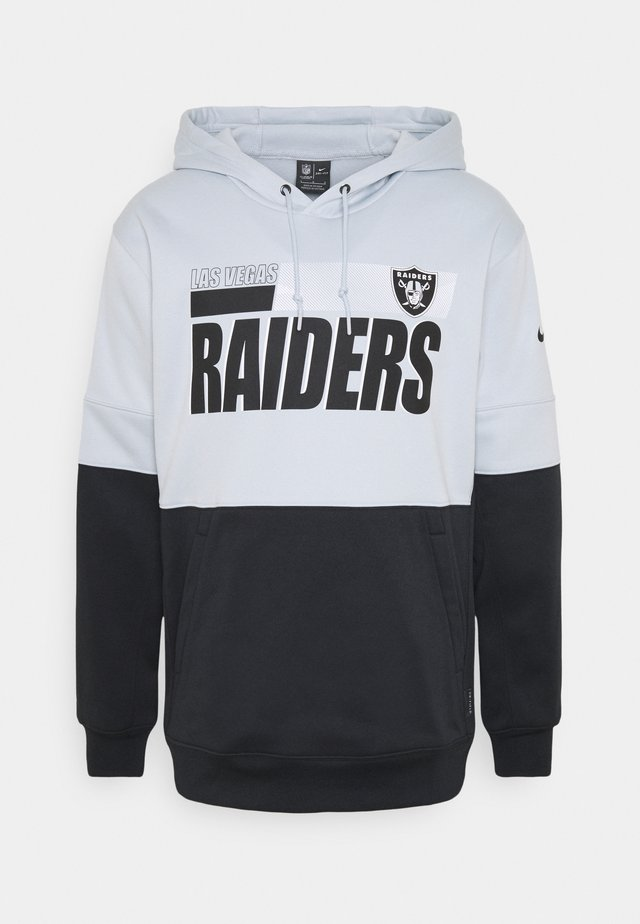 NFL OAKLAND RAIDERS TEAM NAME LOCKUP THERMA HOODIE - Vereinsmannschaften - field silver/black