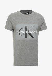 CORE MONOGRAM BOX LOGO SLIM TEE - Print T-shirt - grey heather