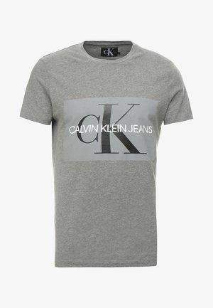 CORE MONOGRAM BOX LOGO SLIM TEE - T-shirt imprimé - grey heather