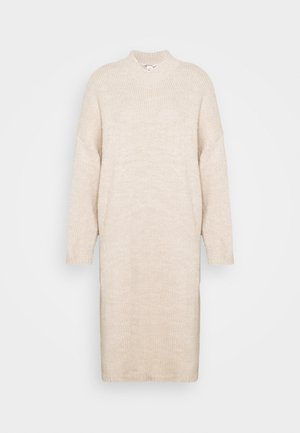 MALOU DRESS - Gebreide jurk - beige light