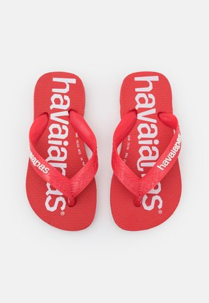 TOP LOGOMANIA UNISEX - Teenslippers - ruby red