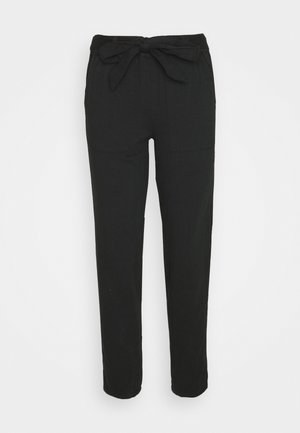 HERRINGBONE TROUSER - Trousers - black