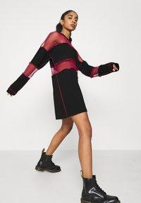 The Ragged Priest - FISHNET SKATER DRESS - Jersey dress - black/red - 3
