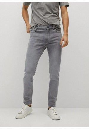 Jeans slim fit - denim grau
