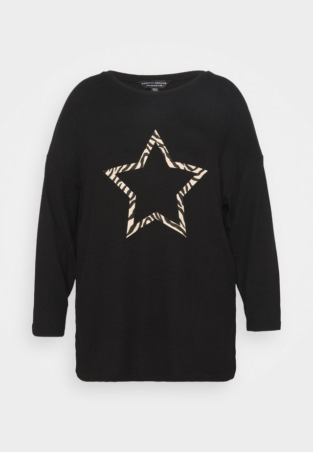STAR JUMPER - Jumper - black